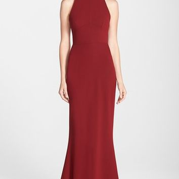 Women's Jill Jill Stuart Open Back Crepe Gown,