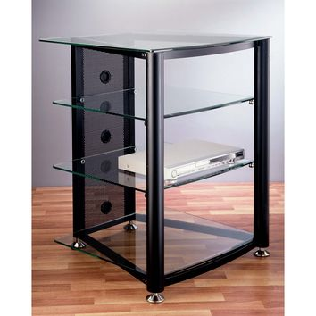 RGR Series 4 Shelf Audio Rack Multiple Finishes Glass Shelves