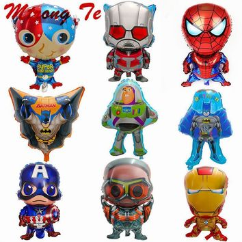 Super Mario party nes switch 10pcs Super Heros Batman Spiderman Captain  Ironman Foil Helium Balloons Kids Inflatable Toys Baby Shower Birthday Decora AT_80_8