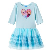 Disney's Frozen Elsa & Anna Sequin Dress - Toddler Girl, Size: