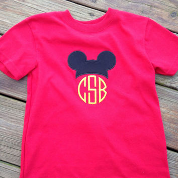 Custom Appliqued Monogrammed Mickey Ears