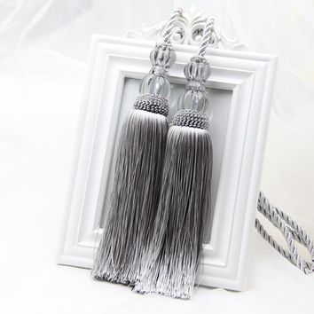 Curtain of Europe type hook hanging ball sole wall hook tassel belt tieback hanging rope lob grey color