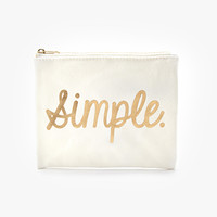 Metallic Simple Canvas Pouch