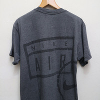 Vintage NIKE AIR T Shirt Gray Color Size M