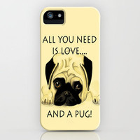 Love and a Pug iPhone Case by Veronica Ventress | Society6
