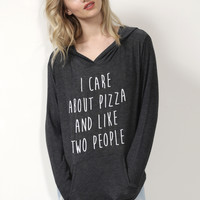 Jonathan Saint I Care About Pizza Sweatshirt