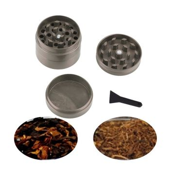 gray 4 pcs Zinc Metal Zinc Alloy Hand Crusher Herb Spice Tobacco Grinder Hot Search