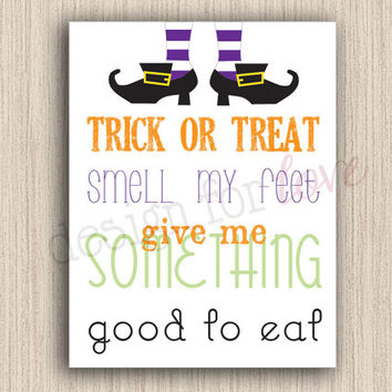Trick or Treat - Printable File - Halloween Decor