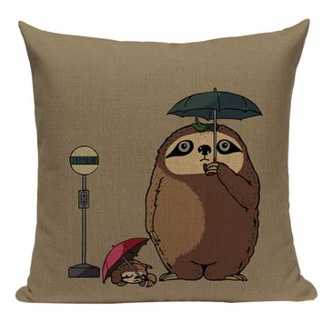 Totoro Sloth Pillow JP2