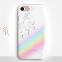 Rainbow Marble Phone Case For iPhone 8 iPhone 8 Plus - iPhone X - iPhone 7 Plus - iPhone 6 - iPhone 6S - iPhone SE - Samsung S8 - iPhone 5