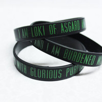 Loki of Asgard jelly bracelet