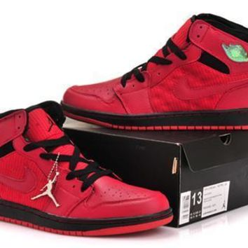 Cheap Air Jordan 1 Retro Shoes Dark Red Black Online