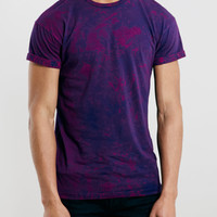 Purple Antarctic Wash Roller Fit T-Shirt - Topman