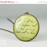 ON SALE: famous quotes resin pendants,handmade pendant charms,recycled glass pendants- Q0115CP