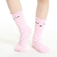 Forrest Animal Socks Pink Kitty & Hearts - Babies & Toddlers!