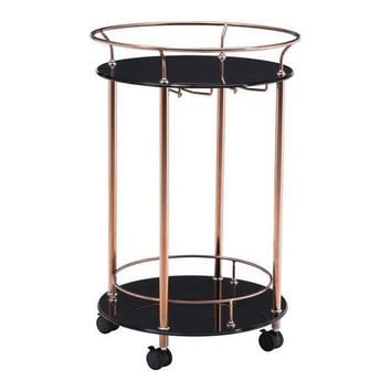 Plato Serving Cart Rose Gold Stainless Steel