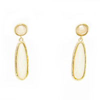 Vixen Earrings In Cream & Gold