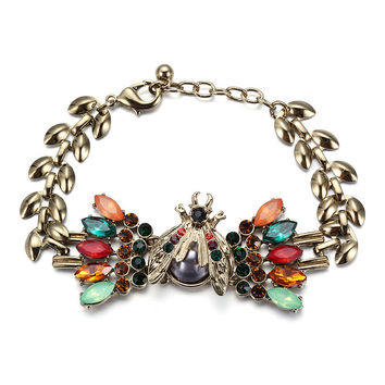 Stylish Awesome New Arrival Shiny Gift Great Deal Hot Sale Strong Character Hollow Out Alloy Diamonds Multi-color Gemstone Bracelet [6047567297]