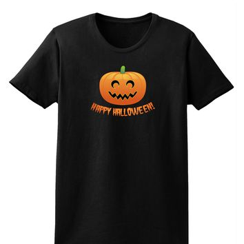 Happy Halloween Jack-o-lantern Womens Dark T-Shirt