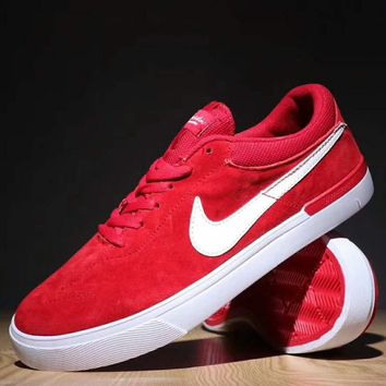 NIKE SB  CHECK SOLAR Fashion Casual High Tops Running Sport Shoes Sneakers For Women Men Red G-SSRS-CJZX