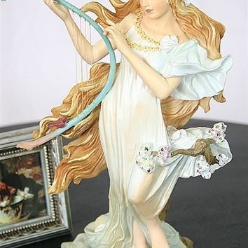 Spring Maiden Statue from Four Seasons by Mucha 8.5H