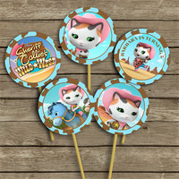 Disney Sheriff Callie's Wild West - Cupcake Toppers - High Quality 300 DPI- Customized -Party Printables