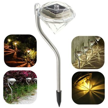 Outdoor LED Lamp Solar Power Garden Light Diamond Waterproof Outdoor Lawn Light Decoration Villa Courtyard Colorful Lights