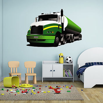kcik20 Full Color Wall decal Truck Wagon large car transport children's room