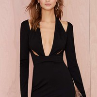 Nasty Gal Black Betty Knit Dress