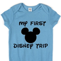 My First Disney Trip// Baby 3 Snap Creeper // Boy Girl Unisex // Multi Colors Available