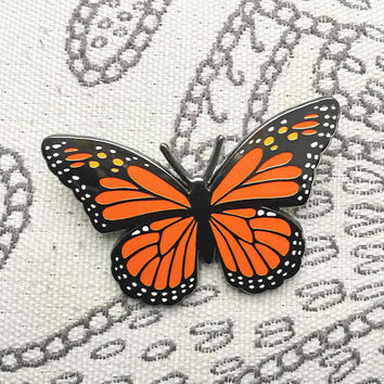 Monarch Butterfly Enamel Lapel Pin