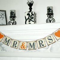 Banner MR & MRS - Bridal Shower Banner - Mr. Mrs. Banner -Table Sign  - Photo Pro