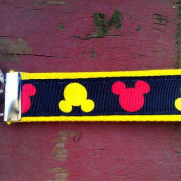 Disney Inspired Mickey Mouse Keychain, Key Fob, Accessories, Key Holder