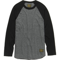 Dark Seas Waterline Raglan T-Shirt - Long-Sleeve - Men's Black,