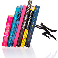 Book and Hero Bookend: Make your books appear to be held up by a super hero.