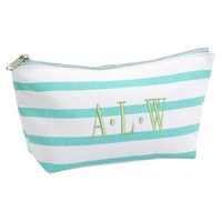 Sea Breeze Stripe Pouches - Pool