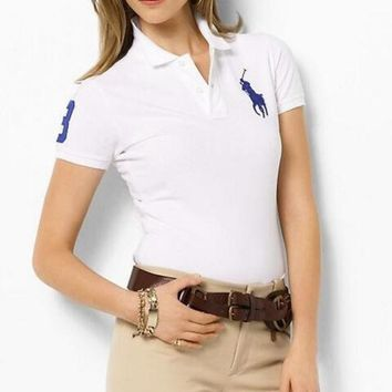 LMFNO HOT POLO 3 COLORED HORS WOMEN'S polo SHIRT