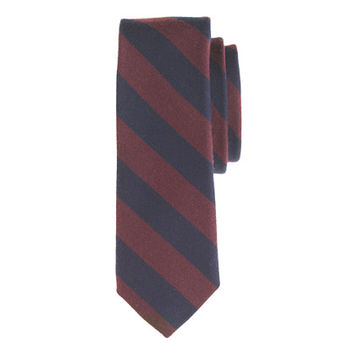 J.Crew Mens English Wool-Silk Tie In Double Stripe