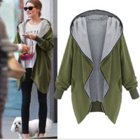 Long-Sleeve Hoodie Zipper Jacket