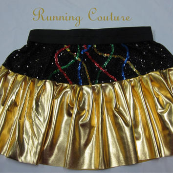 c3po Star wars inspired Sparkle Running Misses circle skirt Princess Leia