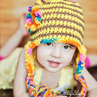 crochet bumblebee hat for baby girl to teen by stitchesbystephann