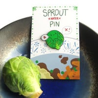 ON SALE! 15% off | Christmas Brussels Sprout HATER Enamel Pin