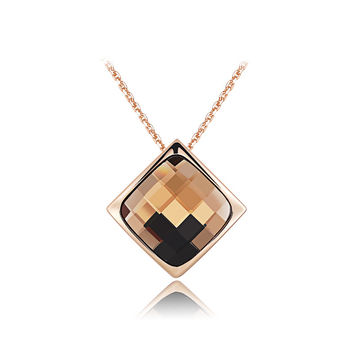 ROXI Large Crystal Pendant Necklace - Gold