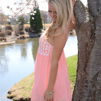 Sweet and Sassy dress, coral
