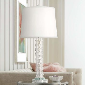 Tiffany Stacked Starburst Crystal Table Lamp - #66E13 | Lamps Plus