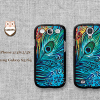 Phone cases, Samsung Galaxy S3 Case, Samsung Galaxy S4 Case, Colorful feathers--Samsung Case, Case for Samsung Galaxy-393