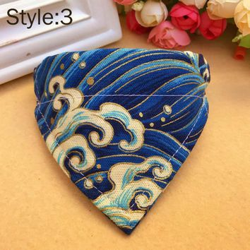Pet Dog Collar Scarf Adjustable Printed Classic Puppy Neckerchief Bandana for Cats Dogs Hot Sale