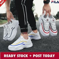Original!HOTMen's Breathable Running Shoes Fashion New Sneakers White Sport Shoes Kasut Sukan Wanita Back On Track