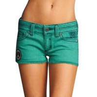 Affliction Juniors Vikki Studs Short - Green