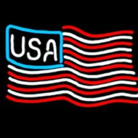USA Flag Real Neon Sign